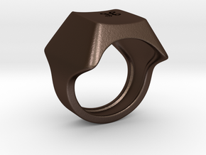 Keyboard Ring in Matte Bronze Steel