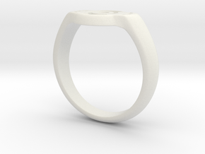 Green Lantern ring in White Natural Versatile Plastic
