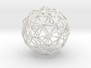 Nested Icosahedron in Dodecahedron in Icosidodecah in White Natural Versatile Plastic