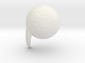 football mod in White Natural Versatile Plastic