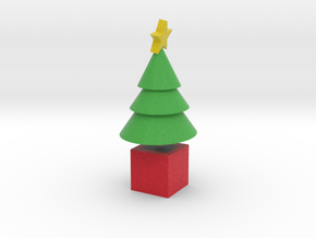 Star Cone Xmas Tree in Full Color Sandstone