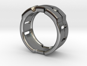 Power icon Ring in Premium Silver