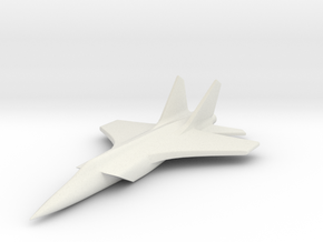 1/285 (6mm) Mig-31 Foxhound in White Natural Versatile Plastic