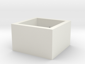 squareRing_16.5mmx12mm in White Natural Versatile Plastic