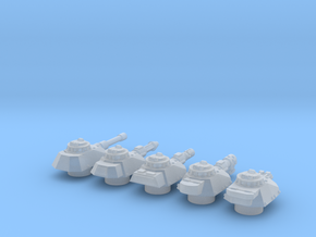 Panzer Mk IVsf turrets in Smooth Fine Detail Plastic