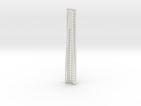 Mesh Tie Slide in White Natural Versatile Plastic