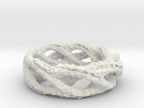 bumpedRing 18mm in White Natural Versatile Plastic