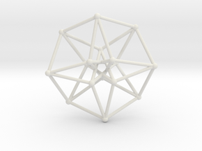 Toroidal Hypercube 100mm 3mm Time Traveller in White Strong & Flexible