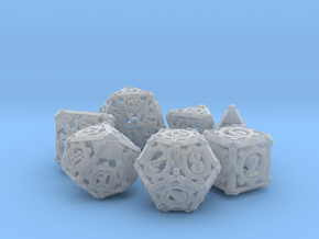 Steampunk Dice Set in Frosted Ultra Detail