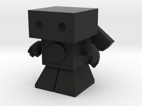 Sonic Boom Robot 1.45 inches tall  (remodeled) in Black Strong & Flexible