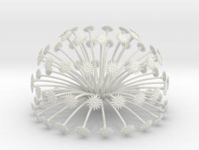 Flowerhead 8 - dense in White Natural Versatile Plastic