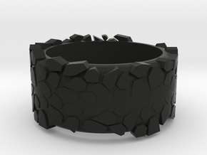 rock ring in Black Natural Versatile Plastic