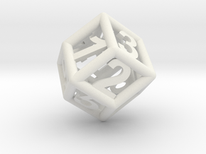 D6 x 2 in White Natural Versatile Plastic