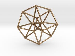 Toroidal Hypercube 35mm 1mm Time Traveller in Natural Brass