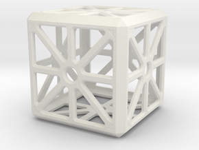 Hollow Box in White Natural Versatile Plastic