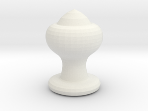 Chess Piece- Bishop in White Natural Versatile Plastic