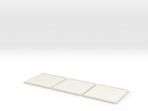 Square Model Base 60mm X3 in White Natural Versatile Plastic