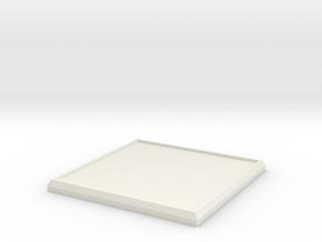 Square Model Base 45mm in White Natural Versatile Plastic