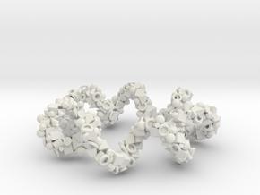 Spiral Ring in White Natural Versatile Plastic