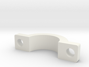 3/4 Clamp Top in White Natural Versatile Plastic