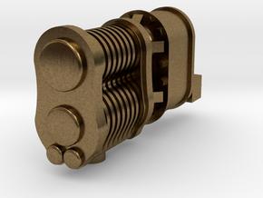 Steam locomotive air pump N scale in Natural Bronze