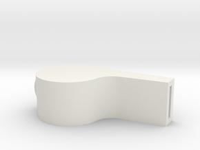 Whistle in White Natural Versatile Plastic