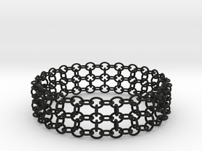 3in Samurai Bracelet in Black Natural Versatile Plastic