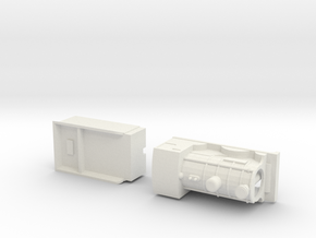 Capsule CR 812 model loco and tender. in White Natural Versatile Plastic