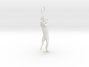 Cat Earing1 in White Natural Versatile Plastic