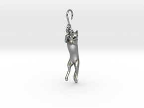 Cat Earing1 in Natural Silver