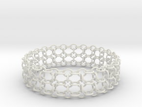 3in Samurai Bracelet in White Strong & Flexible
