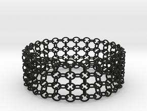3in Shogun Bracelet in Black Natural Versatile Plastic