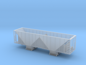 Ballast Hopper Car - N scale  in Smooth Fine Detail Plastic