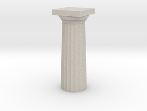 Parthenon Column Top (Hollow) 1:200 in Natural Sandstone