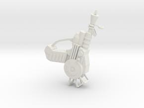 Ray Gun in White Natural Versatile Plastic