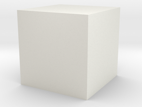 CUBE in White Natural Versatile Plastic