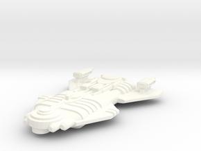 Malkorian Starship in White Processed Versatile Plastic