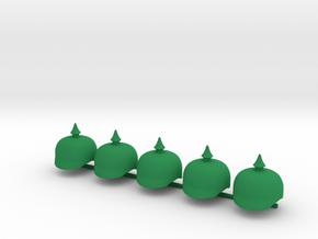 5 x Pickelhaube II in Green Processed Versatile Plastic