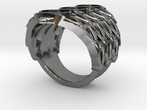 BlakOpal Lace Goth Ring Size 8.5 in Premium Silver