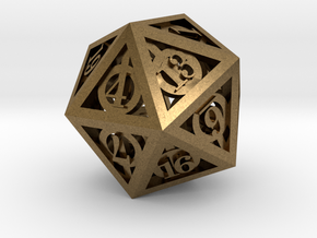 Deathly Hallows d20 in Natural Bronze