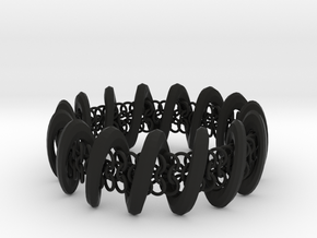2.6in x .9in Trapped Chain in Black Natural Versatile Plastic