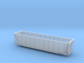 Z scale Coalveyor (tm) bathtub gondola in Smooth Fine Detail Plastic