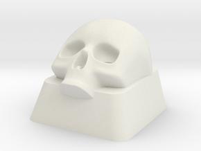 Key Lower Skull in White Natural Versatile Plastic
