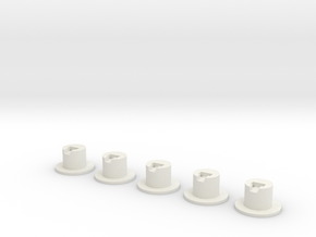NL901 - LED socket 3mm set (H0) in White Natural Versatile Plastic