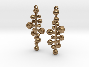 twist pair earing/parts in Natural Brass