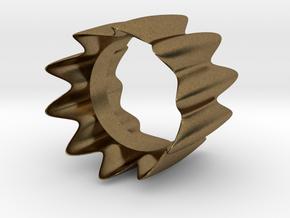 GeoRing 01 in Natural Bronze