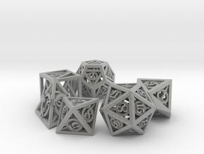 Deathly Hallows Dice Set noD00 in Metallic Plastic