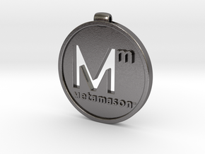 Metamason logo in Polished Nickel Steel