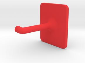 universal hook  in Red Processed Versatile Plastic