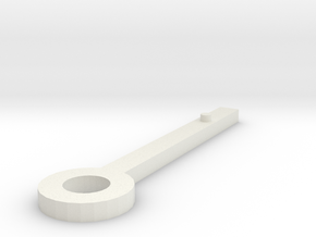Clock hand sketchup selected in White Natural Versatile Plastic